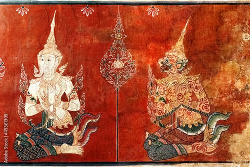 Thai mural painting - 45361305