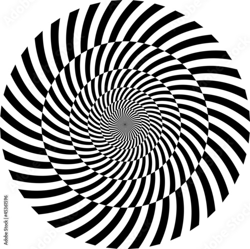 In de dag Psychedelic Black and white hypnotic background. vector illustration