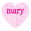 """""""MARY"""" Tag Cloud (i love you be my valentine card heart romance)"""