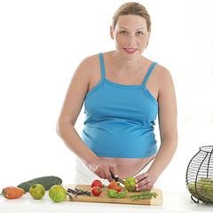 Grossesse de 8 mois - Salade de crudités