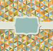 Flower of life seamless pattern in vintage colors with frame