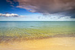 Swedish side of Baltic Sea with sandy beach