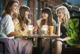 Fototapety Four girls enjoying the meeting