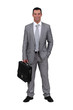 Executive with his briefcase