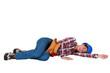 Tradeswoman sleeping on the job
