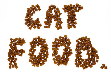 cat food on a white background