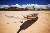 Boat on Saly beach in senegal