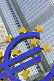 Euro sign outside the European Central Bank (ECB) in Frankfurt a