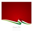 Abstract color background Italian flag vector