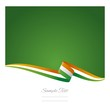 Abstract color background Irish flag vector