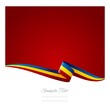 Abstract color background Romanian flag vector
