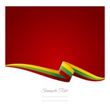 Abstract color background Lithuanian flag vector