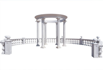 Balustrade and pergola