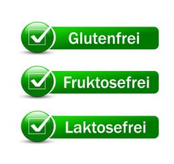 Glutenfrei, Fruktosefrei & Laktosefrei