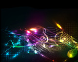 Fototapety Music colorful music note theme