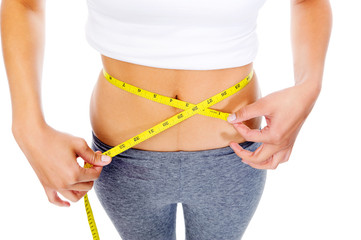 dieting woman waist