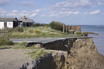 East Yorkshire of England coastal erosion
