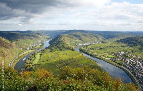 Mosel Schleife - Weingebiet - Deutschland