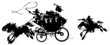 Western Stagecoach pursued by Highwayman. - 45371149