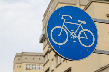 Beschilderung Fahrradweg Wien