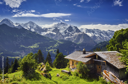 Fototapete Hohe Berge - Wandtattoos - Fotoposter - Aufkleber
