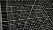 Abstract Structure Grid Animation On Black Background 01