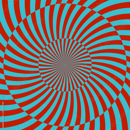 Staande foto Psychedelic Retro style hypnotic background. vector illustration