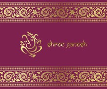 Ganesha, Diwali greetings card, royal Rajasthan, India