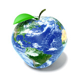 3D apple earth