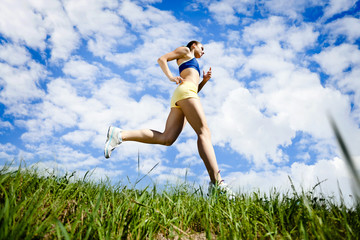 Young woman running outdoor