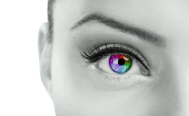 Beautiful colorful  eye
