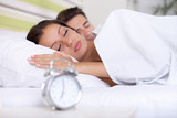 Fototapety couple sleeping bed