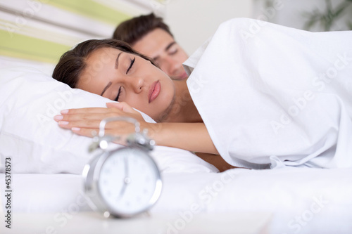 couple sleeping bed