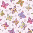 seamless  pattern witn colorful  butterflies