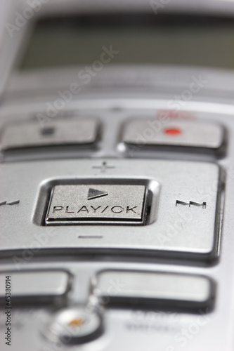Detailed view of the digital voice recorder.
