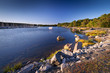 Rocky Baltic Sea coastline in Sweden