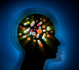 Kopf mit Tabletten 1