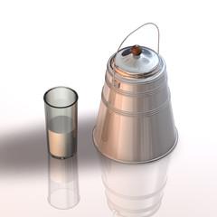 MilchKanne Glas kl