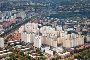 modern urban residential district in autumn day