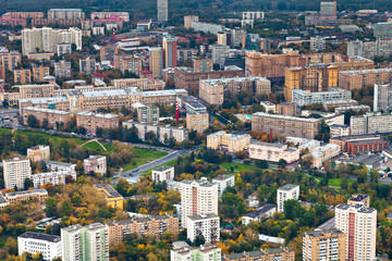modern urban residential district in autumn afternoon