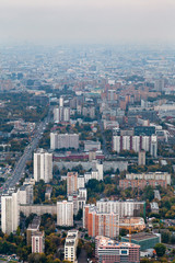panorama of residential district in autumn