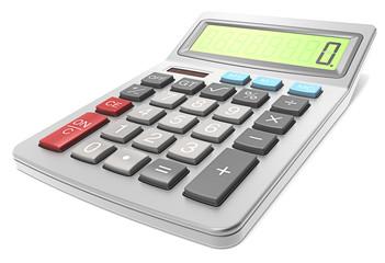 Calculator. Classic Calculator on white background.