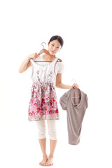 a young asian woman fashion image