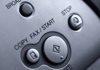 Fax machine detail close up