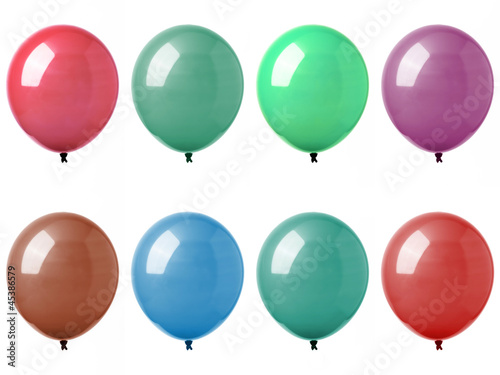 Eight colorful balloons - Otto palloncini colorati