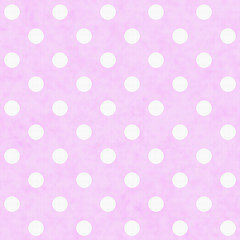Pink White Polka Dot Fabric Background