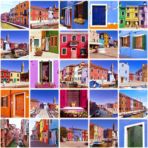 Collage - Burano, Venice
