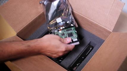 Hard Drive Shipment Box