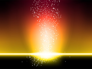 Stars Explosion Background Red and Yellow