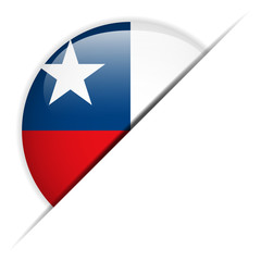 Chile Flag Glossy Button